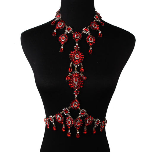 Glitter Sparkly Sequins Bling Fashionable flower body chain