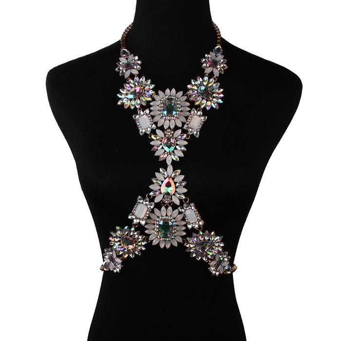 Glitter Sparkly Sequins Bling Stylish atmospheric geometric diamond-studded body chain