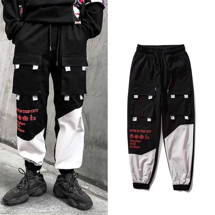 Japanese Trendy tooling all-match sports men's casual pants