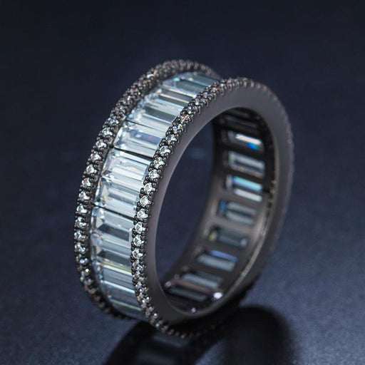 Zircon electroplated ring