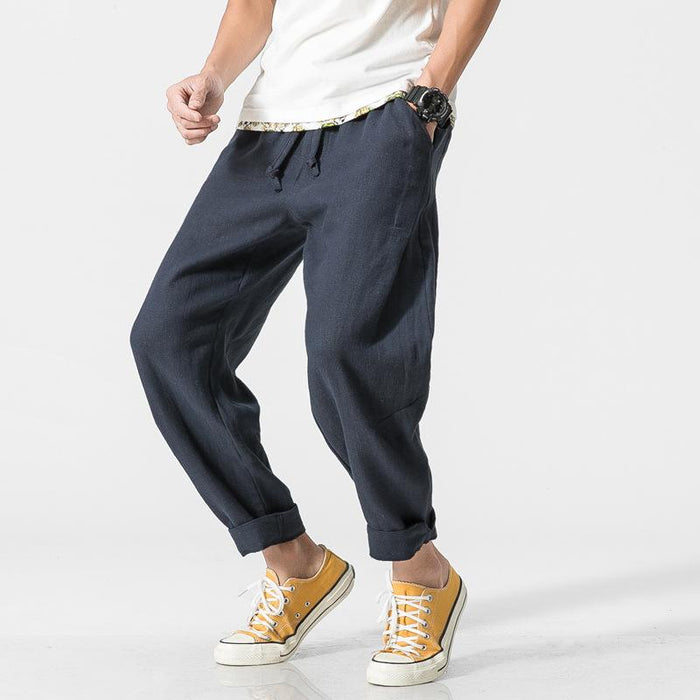 Japanese loose casual pants linen harem pants