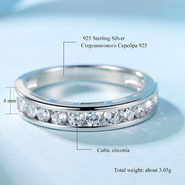 Vintage fashion zircon 925 sterling silver ring