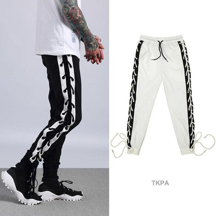 Advanced Retro Sports Street Hip Hop Dance Loose Straps Beam Foot Guard Pants