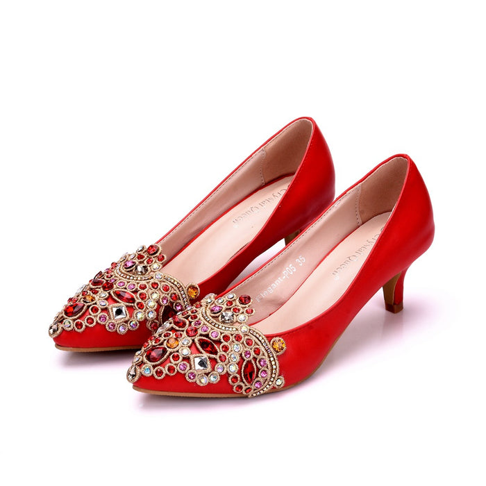 Glitter Heels -Crystal Red