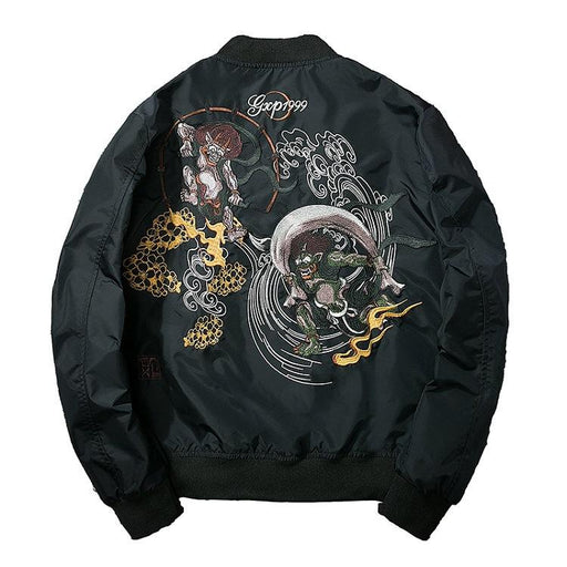 Sukajan bomber jacket-Japanese anime embroidery