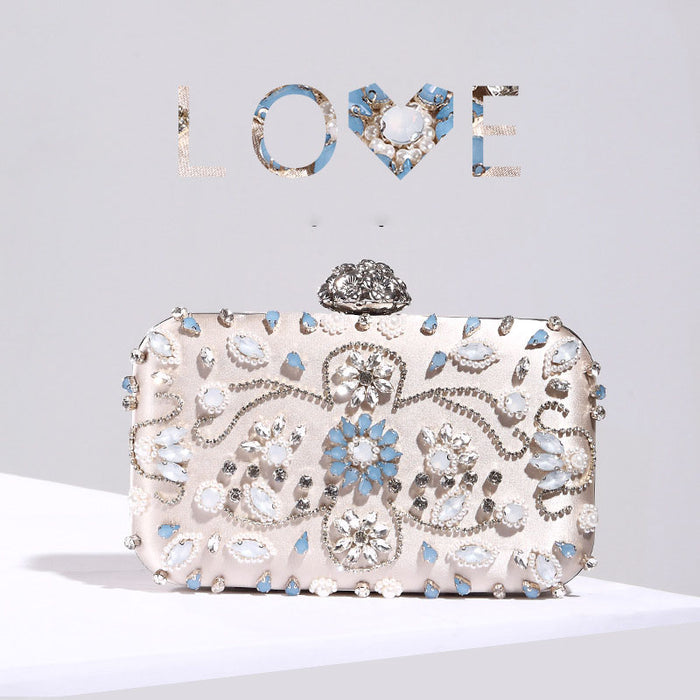 Pearl and Diamond Dinner Clutch