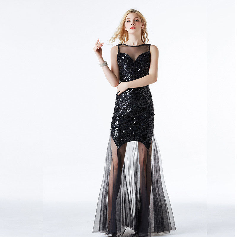 Party   Sparkly Bead Evening Gauze dress