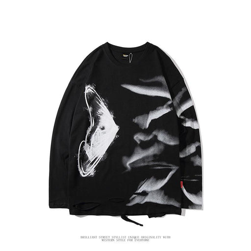 Japanese dark hip-hop crew neck T-shirt