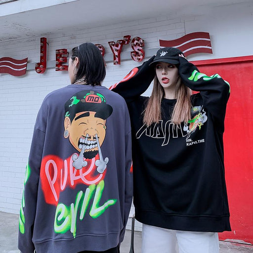 Japanese loose trend anime Sweatshirt