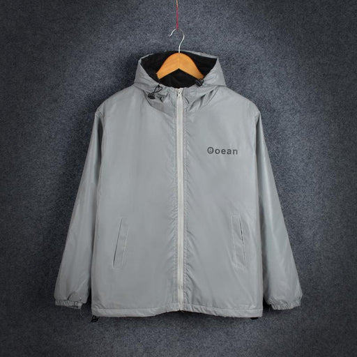 Japanese trendy luminous couples assault windbreaker reflective jacket