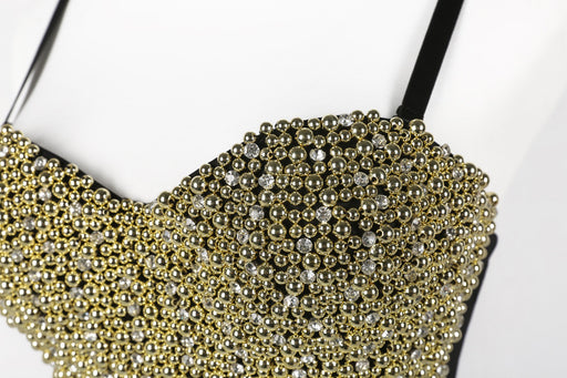 Golden black  Sparkle Diamond Bandeau Camisole