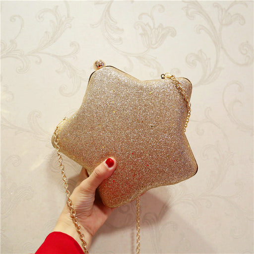 Cute star dinner party shoulder messenger evening gift wild personality package