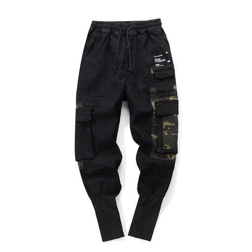 Net Overalls Tide Brand Korean Version Hip Hop Japanese Street Nine Points Pants