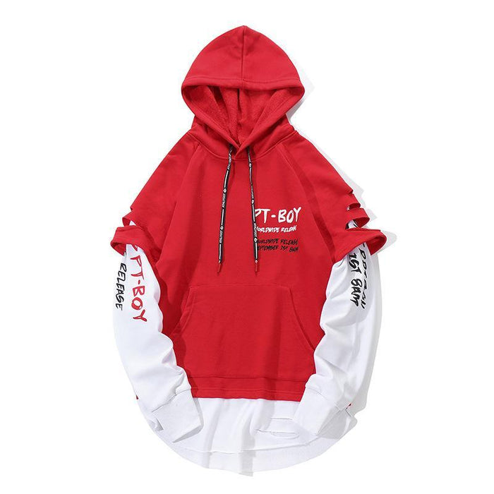 Hooded New Fashion Creative Japanese Street Round Neck Pullover Sweater
