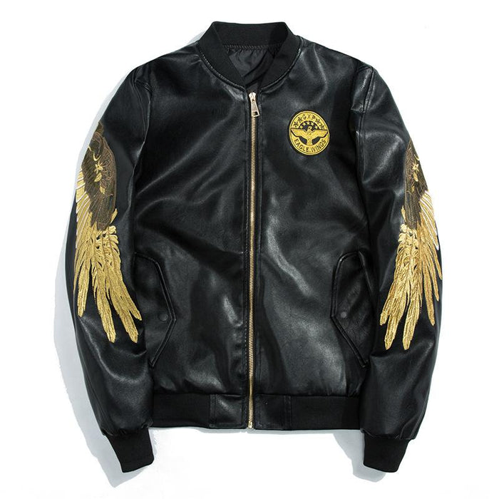 Sukajan bomber jacket-Japanese wings embroidery