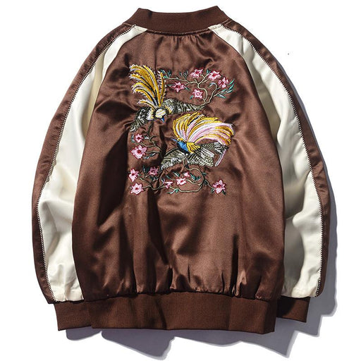 Sukajan Souvenir Jacket - Japan Swan Embroidery