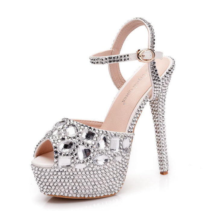 Glitter Sandals -Color diamond Crystal