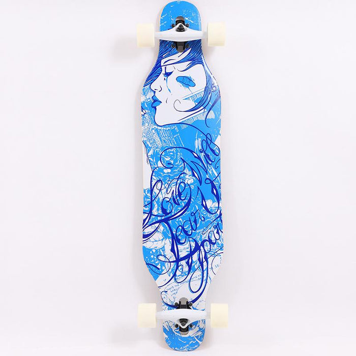 Japanese Four-wheel Long Board Double Warped Beginner Skateboard