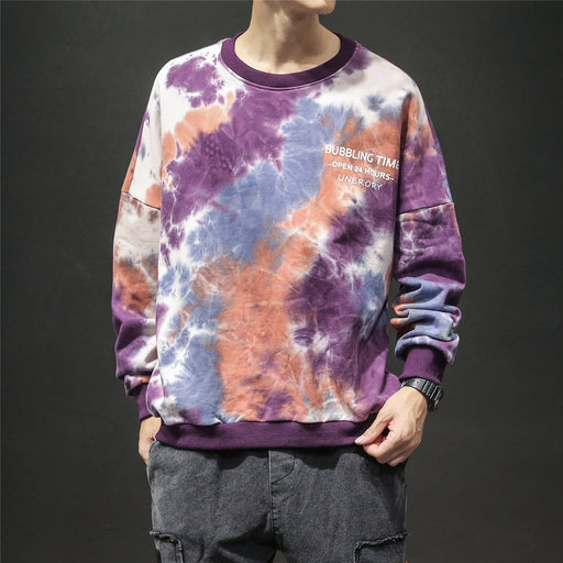 Japanese camouflage long sleeve loose round neck Sweatshirt