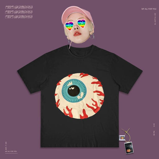 Retro T-shirt Vaporwave 90s Creative Eye Trick