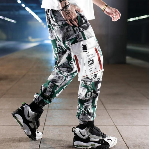 Japanese camouflage overalls loose-fitting casual trousers