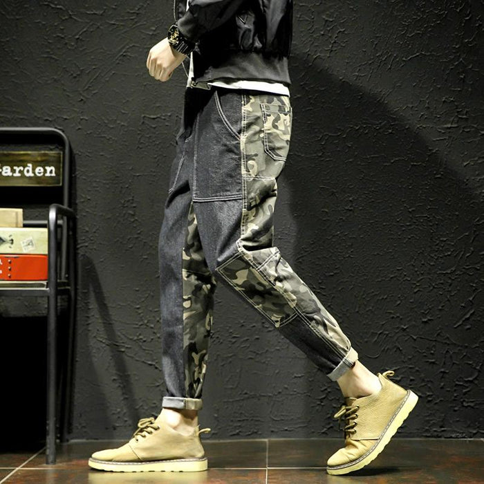 Japanese Camouflage casual loose all-match pants