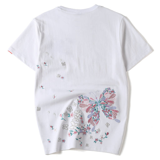 Japanese Sukajan Butterfly Embroidered T-shirt