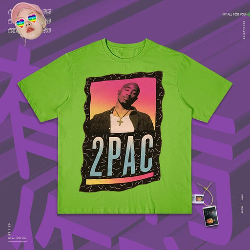 Retro Tribute to tupac west coast street rapper legend 2pac 80s T-shirts