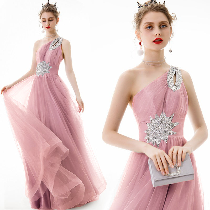 Bridesmaid Sequins pink dress