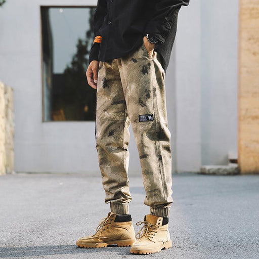 Japanese camouflage multi-pocket tooling trousers