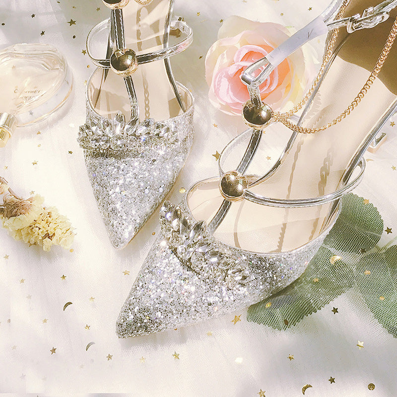 Glitter  Heels - Sparkly Bling Diamond Dazzle