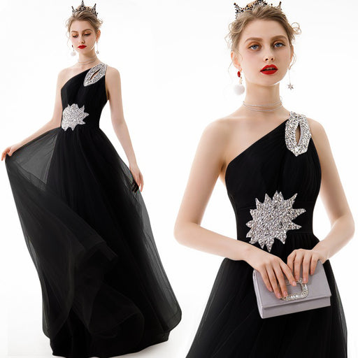 Bridesmaid Sparkle sexy black dress