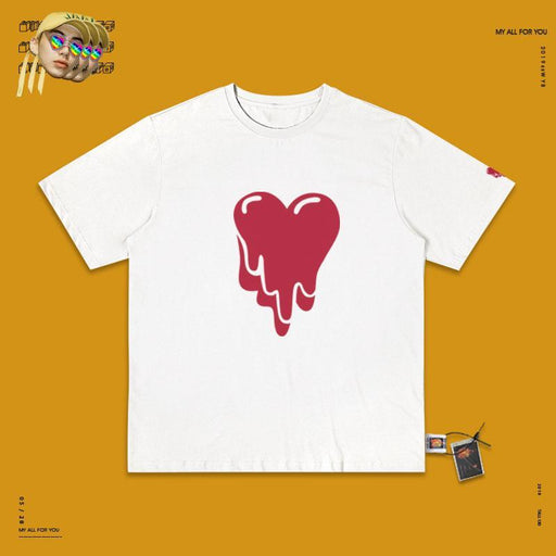 Retro T-shirt 90s Pink Melting Heart