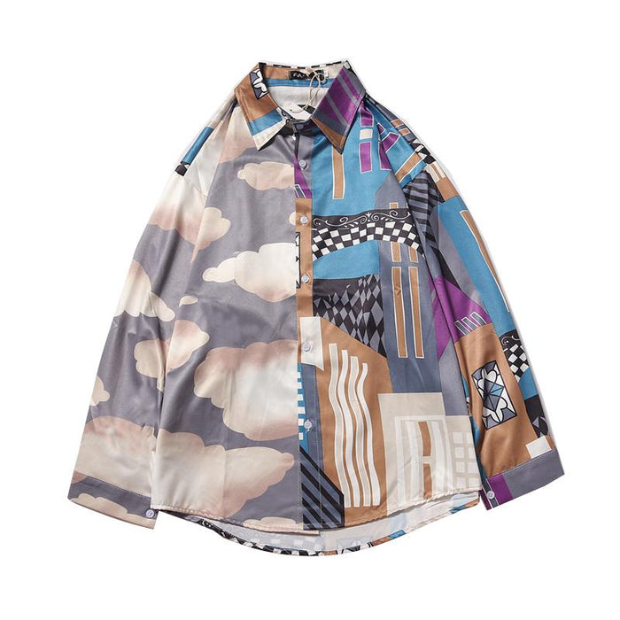 Japanese abstract shirt