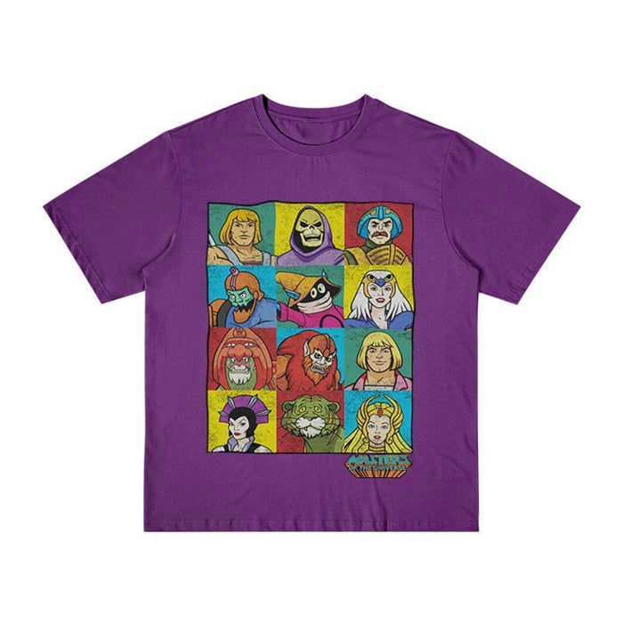 Retro Master of the universe color splice 80s T-shirts