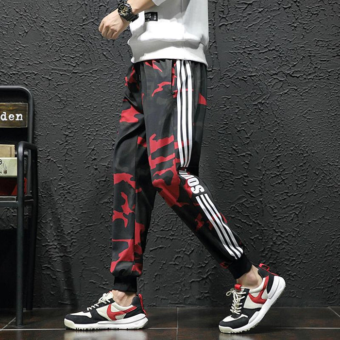 Japanese camouflage tooling trousers loose and versatile casual trousers