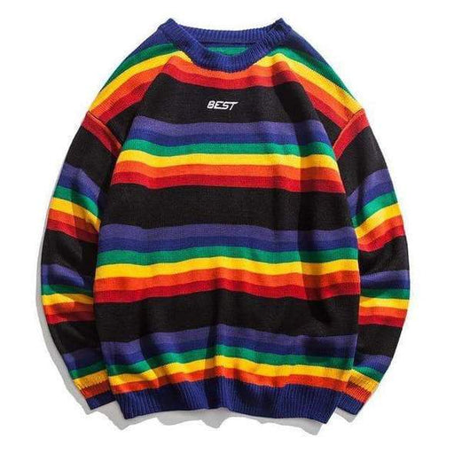 AY3 Harajuku Rainbow Striped Sweater