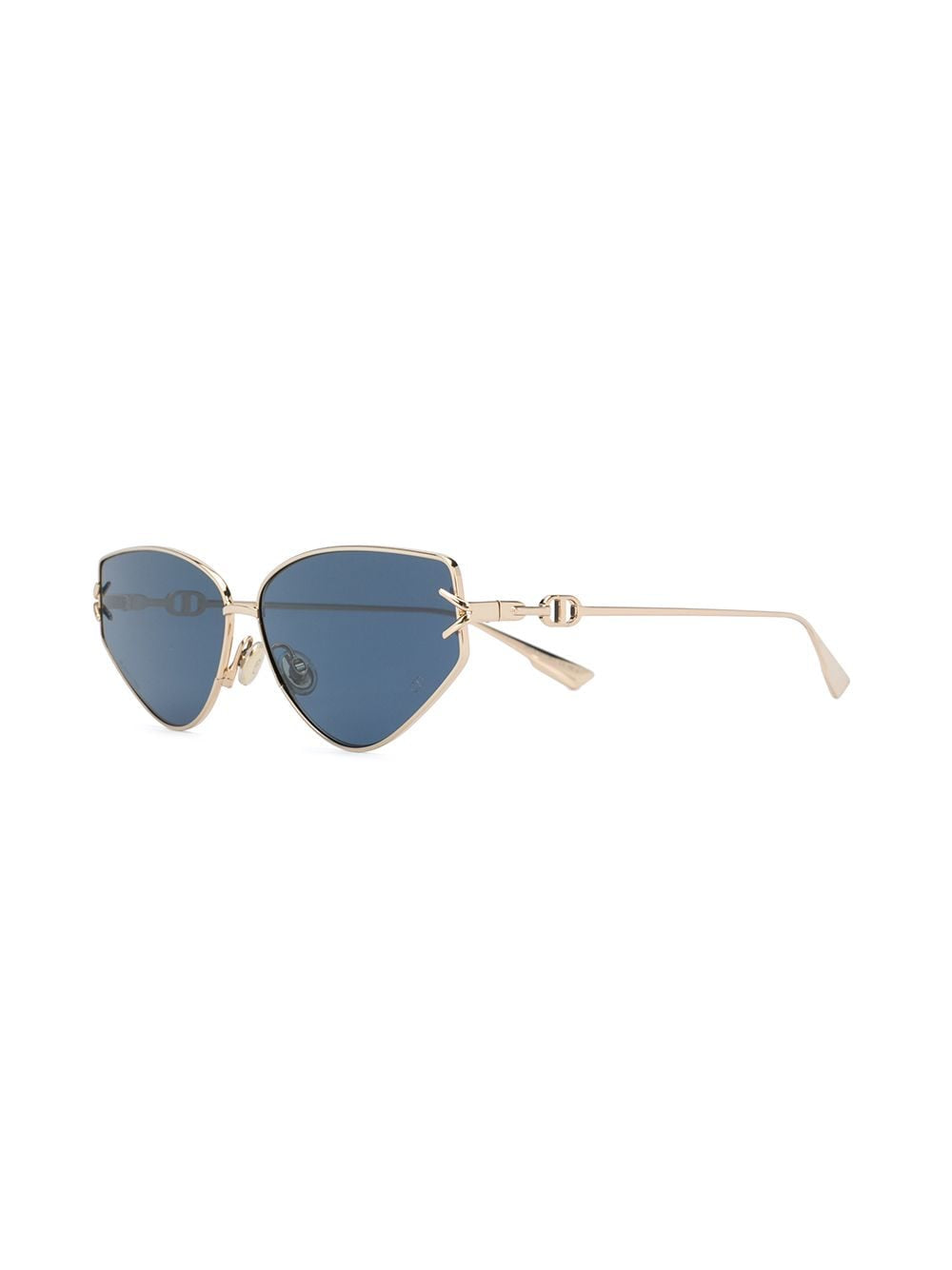 DIORGIPSY2 GOLD/LIGHT BLUE SUNGLASSES