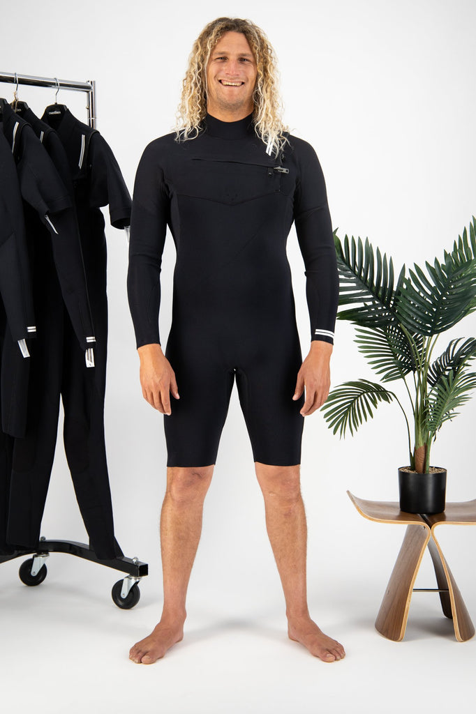 Premium Mens 2/2 Long Sleeve Chest Zip Springsuit
