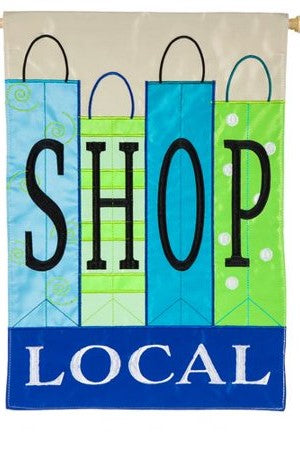 SHOP LOCAL Garden Flag