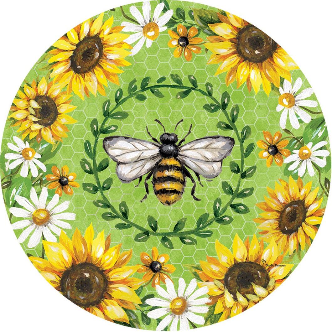 Bumblebees $ Sunflowers Stepping Stone