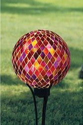 "Sunset 10"" Gazing Ball Local Delivery Only"