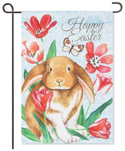 Happy Easter Easter Bunny Garden Flag
