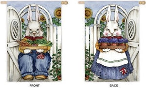 Wise Rabbits double sided House flag