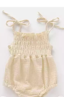 Linen Infant Romper 2 colors