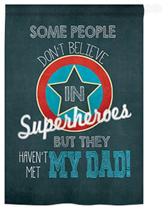 Super Hero Fathers Day Flag