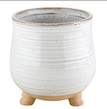 Load image into Gallery viewer, Porcelain Round Pot with legs