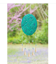 Load image into Gallery viewer, Embossed Hummingbird Wind Chime