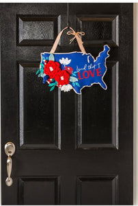Land that I Love Patriotic Door Decor