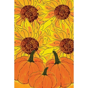 Sunflowers and Pumpkins house flag